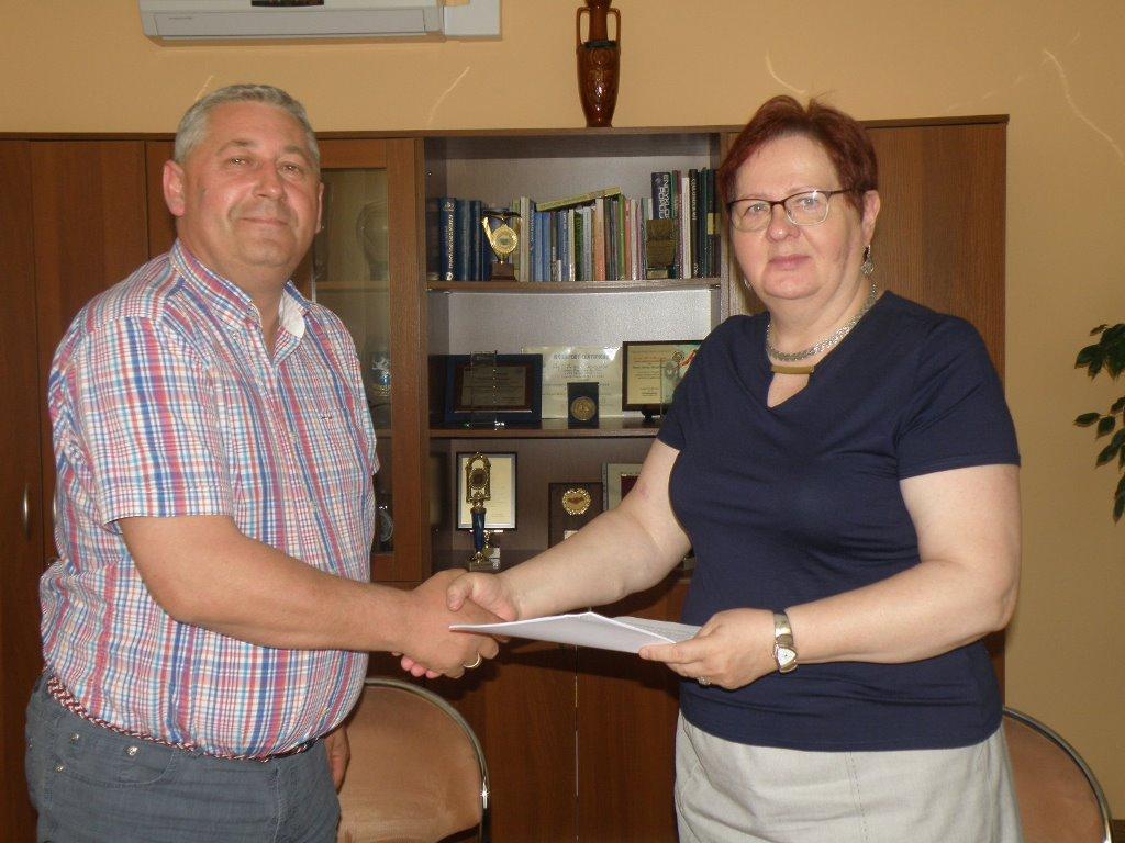 Podpisanie umowy na przebudowę drogi gminnej wLubczy